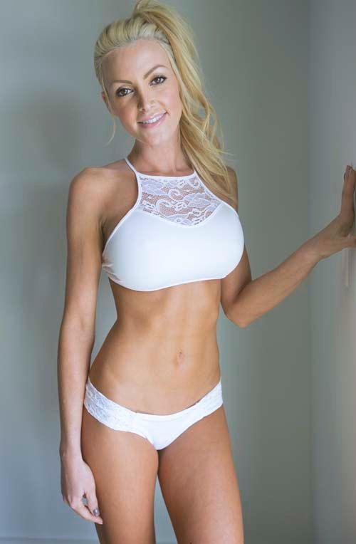 Sexy White Lace High Neck Bikini Top And Micro Lace Bikini