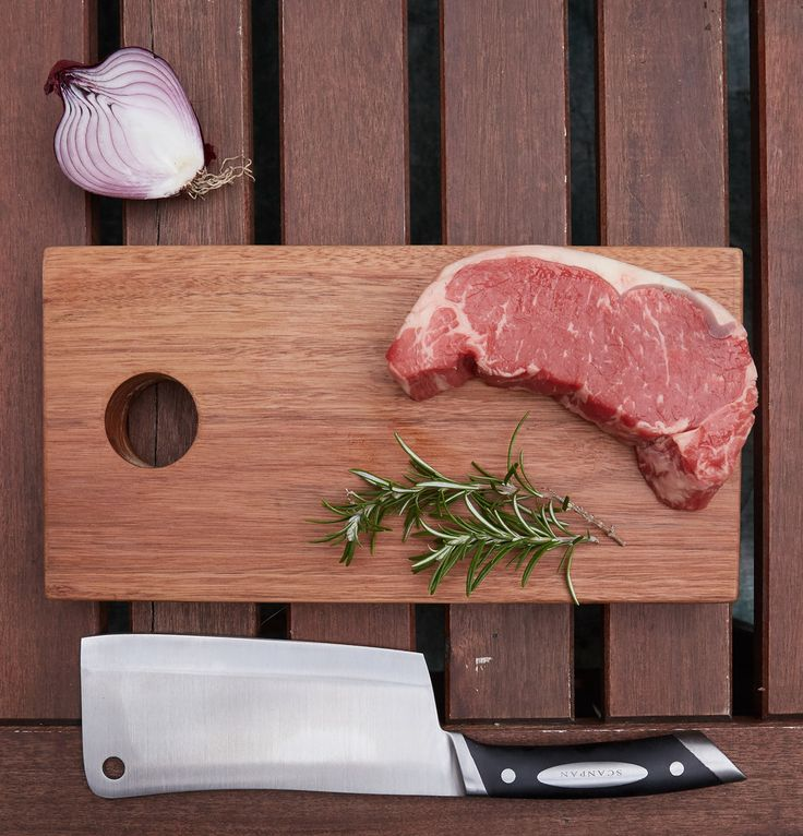 Meat Tray Fresh chops ready for the bbq.Chopping board by wah.works Photo by Dani Knox Photos