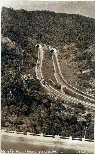 Década de 50 - Via Anchieta.