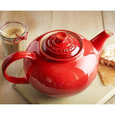 Le Creuset® Classic Teapot - a great gift for tea lovers. It's a wonderful pourer (crucial).