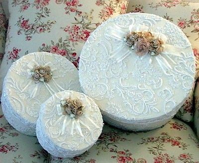 lace covered boxes | ... Boxes Wedding Keepsake Box Fabric Covered Gift and Keepsake Boxes