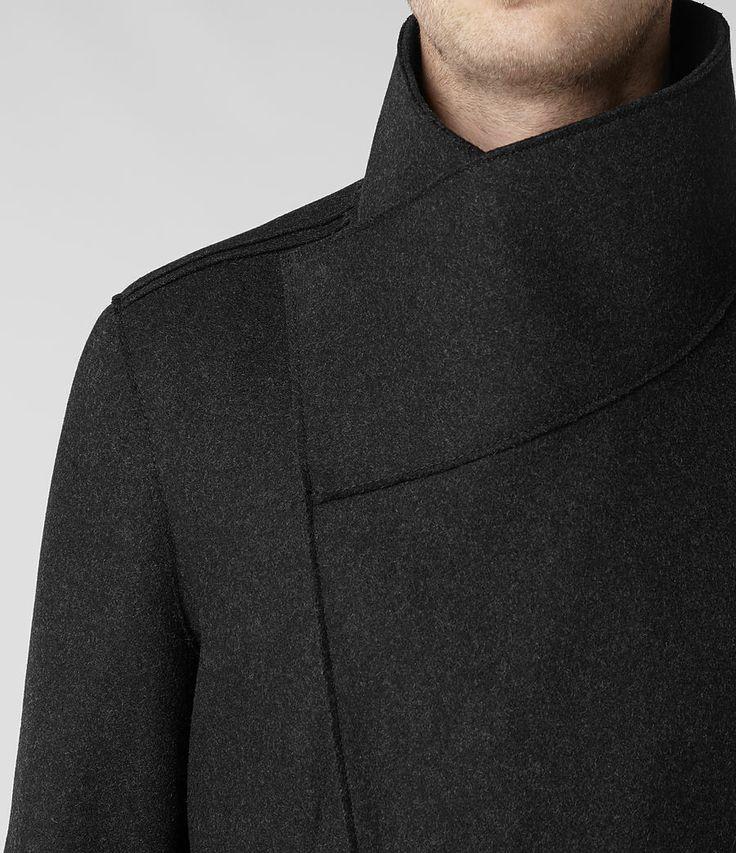 Mahler Coat Slim Fitting Funnel Neck http://www.allsaints.com/men/coats/allsaints-mahler-coat/?colour=33&category=116