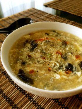 ダイエットに☆大満足な中華春雨スープ