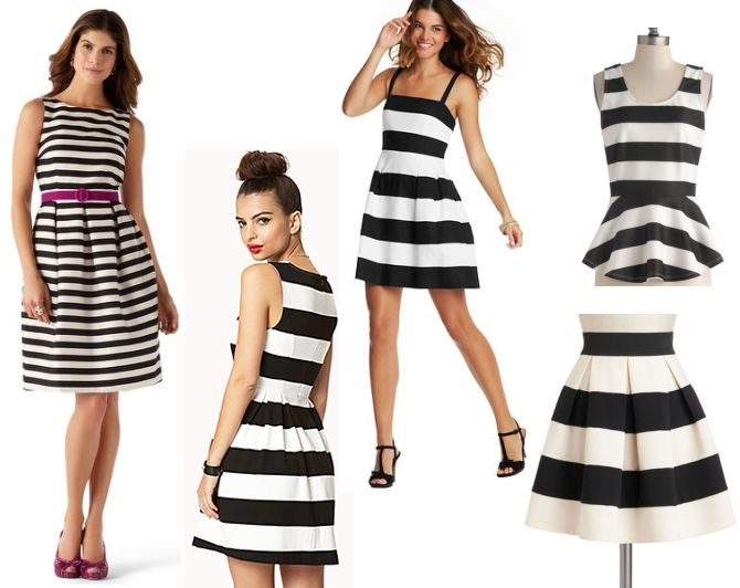 Thin and Think Striped Dresses