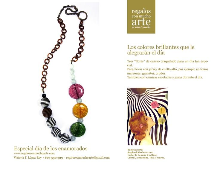 Collar La Femme à la Rose  $88 - 68€  www.regalosconmuchoarte.com  VENDIDO