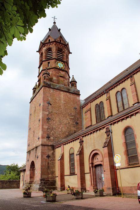 L'église Saint-Baptiste à Buhl