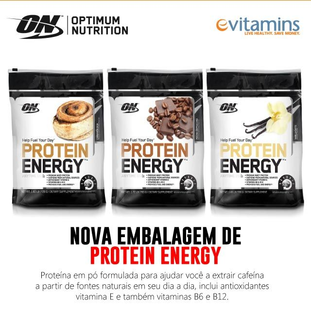 Energy Protein da Optimum Nutrition proporciona a você apoio muscular e grandes níveis de energia.