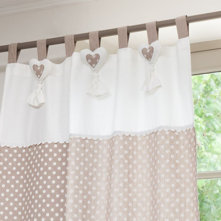 polka dots curtains cute!!