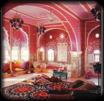 from a magazine rip out, posted on my blog.  LOVE the Indian style with my favorite color Fuchsia!