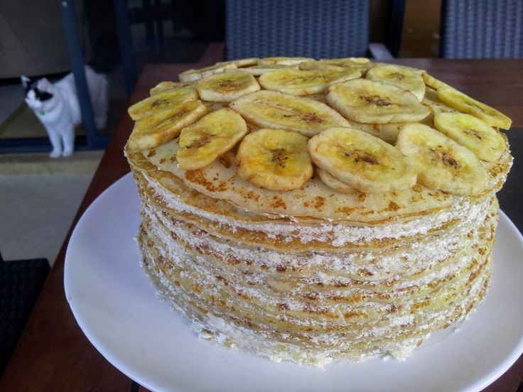 Chunky on Chia: {GF & Vegan} Banana Crepe Cake
