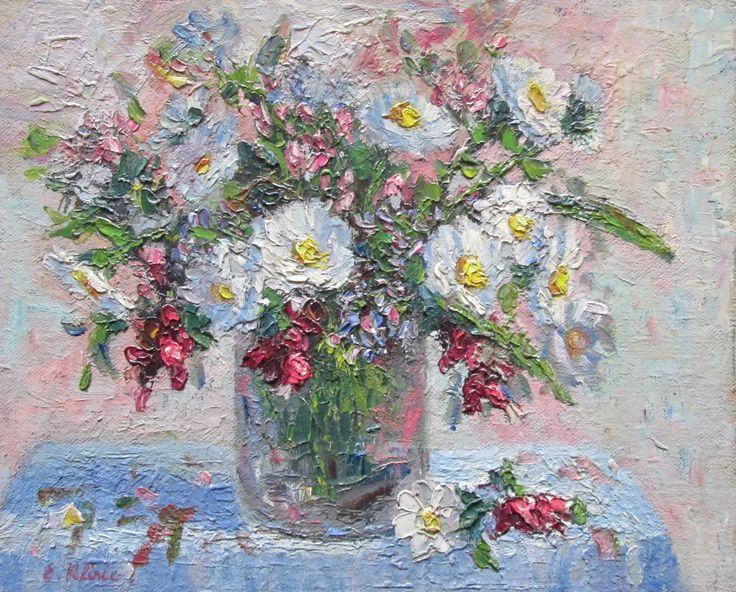 Bush Flowers Noojee, Victoria, Australia Original Impressionist Oil Painting by Enoch Hlisic