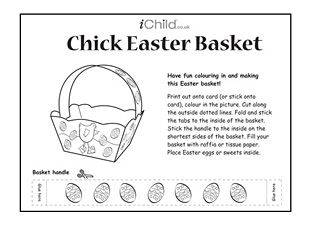 Best 25 easter basket template ideas on pinterest easter gifts print off this simple chick easter basket template and let your child have fun colouring negle Images