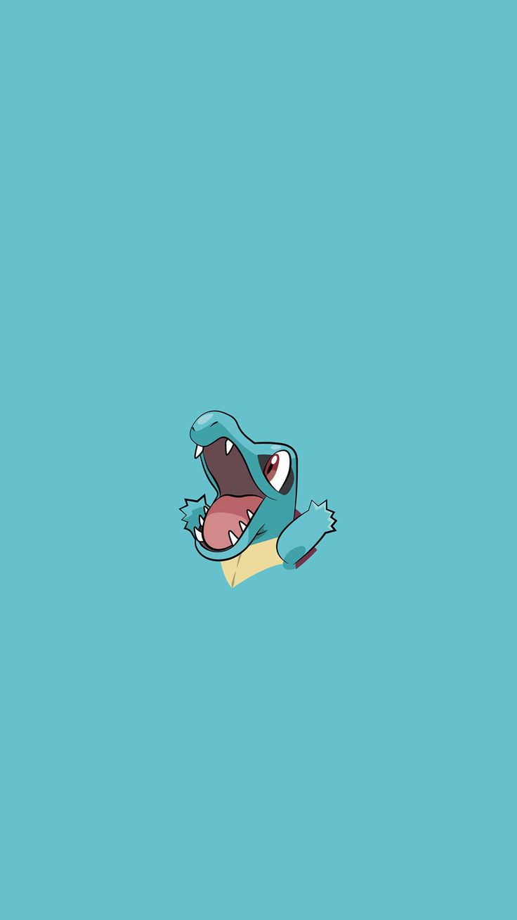 Totodile Pokemon iPhone 6+ HD Wallpaper - http://freebestpicture.com/totodile-pokemon-iphone-6-hd-wallpaper/