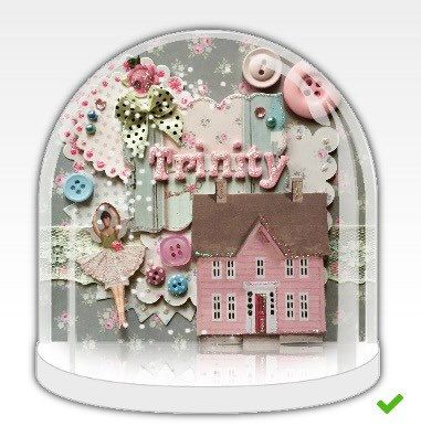 Custom made personalised snow globe with name and/or date perfect for new baby…