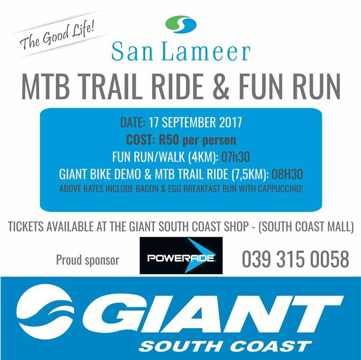 Make sure you book this date in your diary TODAY before it is too late and join us for a fun filled day on the tracks here at San Lameer 🚴‍♂️ Grab your tickets from Giant South Coast directly.  http://sanlameer.co.za/sites/default/files/mtb-open-day-17-september-2017.jpg