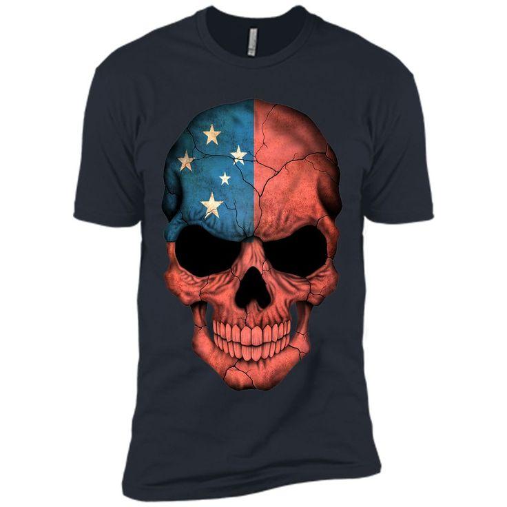 Samoan Flag Skull Samoa T-Shirt