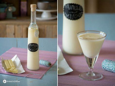 Vanillelikör Rezept mit weißer Schokolade