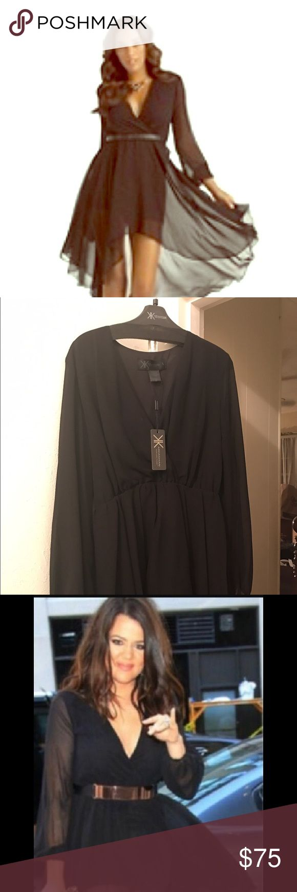 Kardashian Kollection hi low dress Black hi low dress with tags. Never worn Kardashian Kollection Dresses High Low