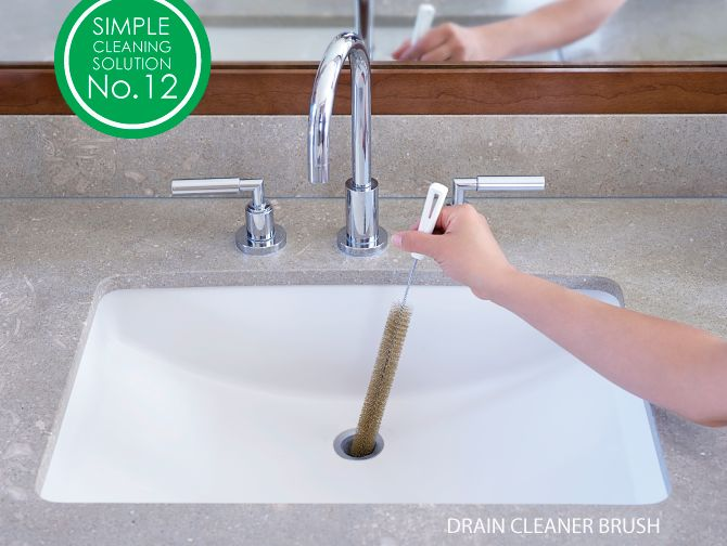 Our narrow Fuller Drain Cleaner Brush pulls out build-up of hair, grease and grime quickly and effectively from your sink. Try one today!