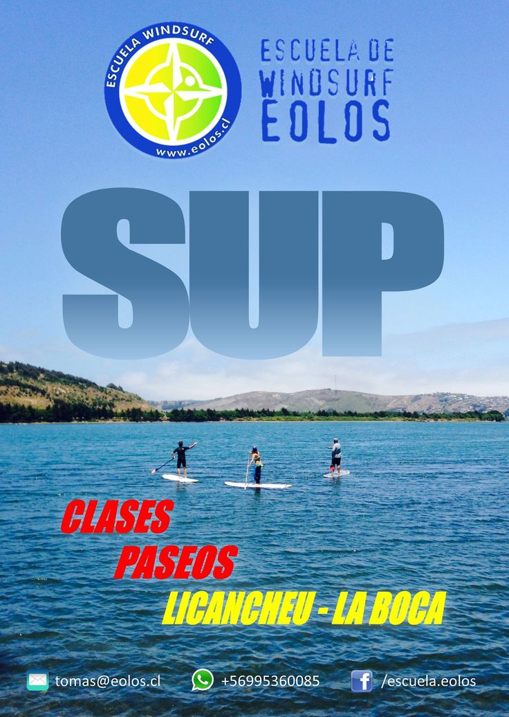 Son muchos los beneficios que entrega el Stand up Paddle!!! Descubre y disfruta esta vibrante forma de hacer deporte al aire libre junto a Escuela Eolos!!  TEAM EOLOS