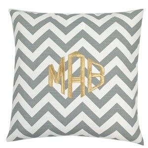 monogram - mixed metallics...chevron, silver and gold is very mature, yet modern