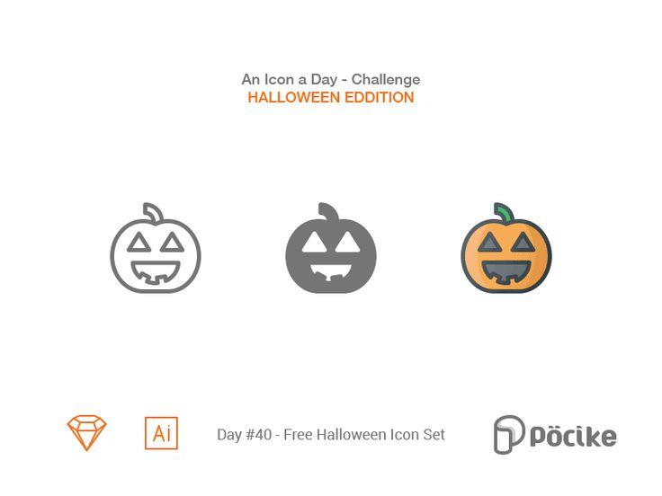 Icon challenge day 40 free halloween icon set