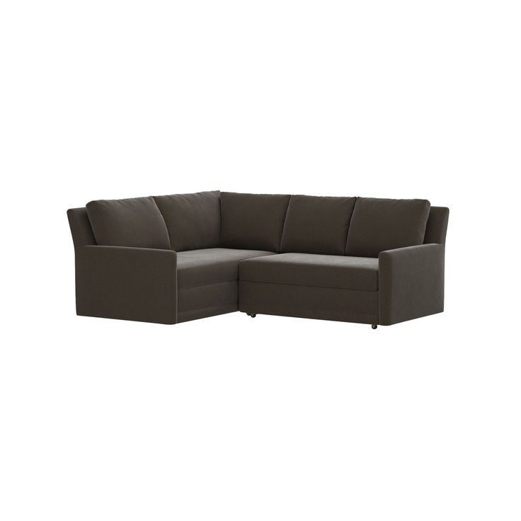 Shop Reston Sleeper Sofa with Trundle.   These classic, clean-lined pieces have an upright, family-room feel with firm bench cushions, soft back pillows and slim track arms.