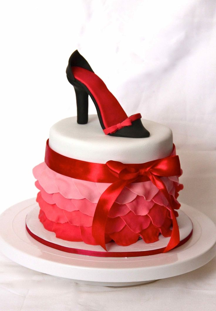 Petal Cake With Shoe on Cake Central