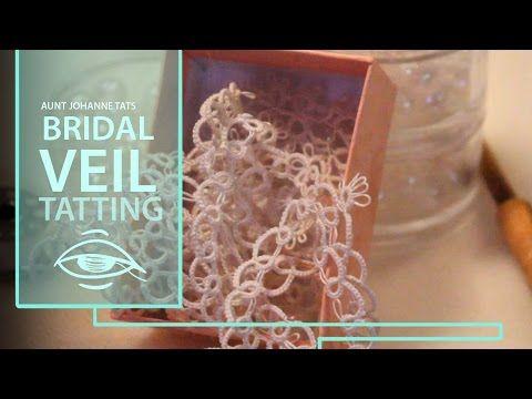 How to tat a wedding veil | lace bridal veil - YouTube