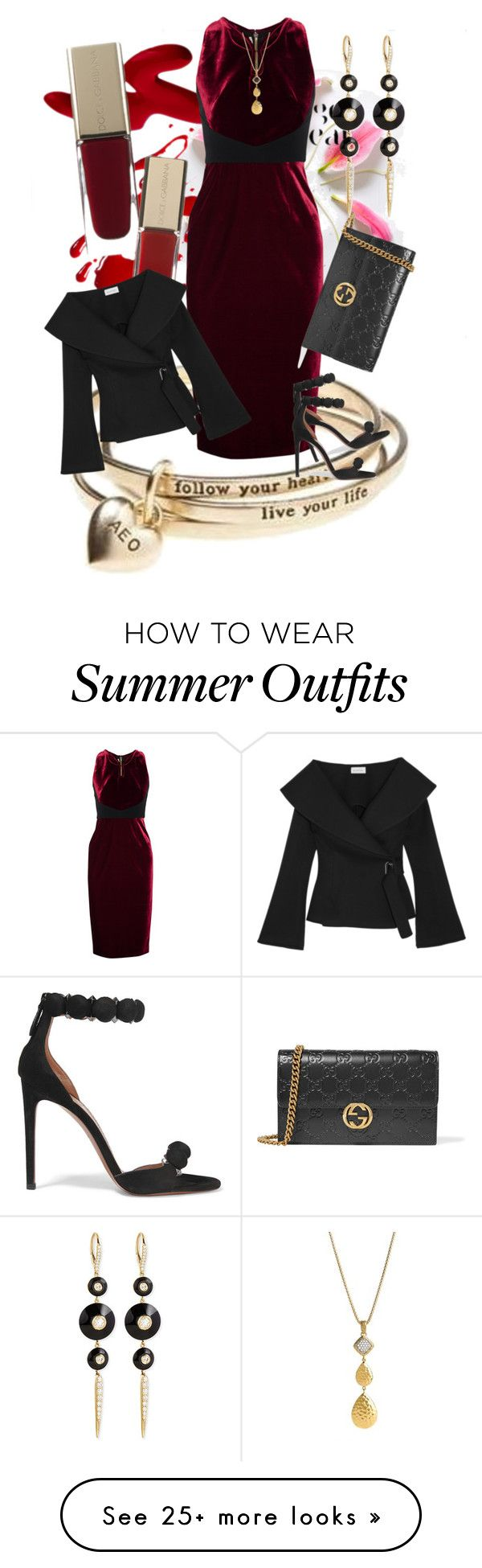 """""""Turning Heads"""" by rita257 on Polyvore featuring American Eagle Outfitters, Roland Mouret, Beaufille, Gucci, Alaïa, Maria Canale and John Hardy"""