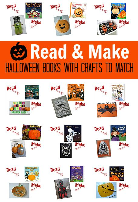 25 Halloween books for kids with matching crafts - perfect for lesson planning.