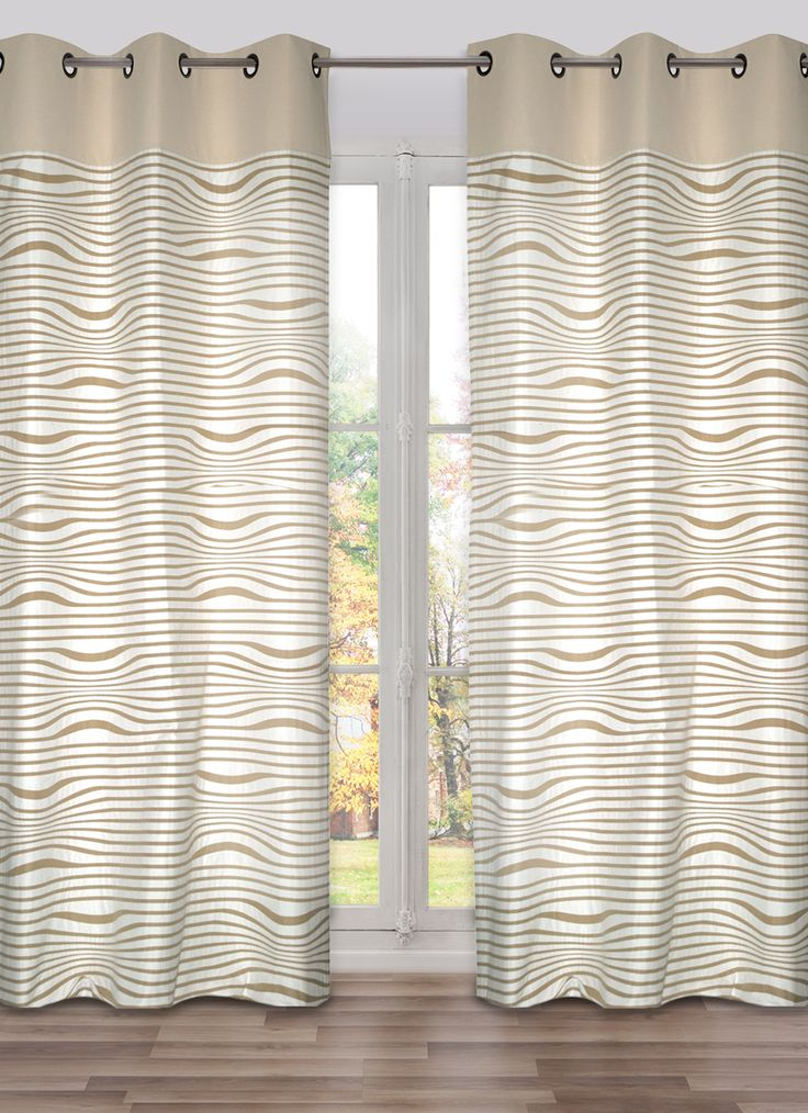 JEAN PAUL GAULTIER - READY-MADE CURTAIN PANEL RECTO/VERSO BEIGE