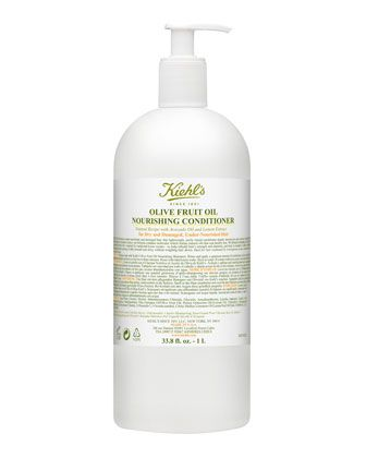 Olive Oil Fruit Nourishing Conditioner by Kiehl's Since 1851 at Neiman Marcus.  Blends enriching avocado oil, lemon extract, and olive fruit oil-inspired by traditional home recipes-to help rebuild hair's strength and elasticity, and lock in moisture.