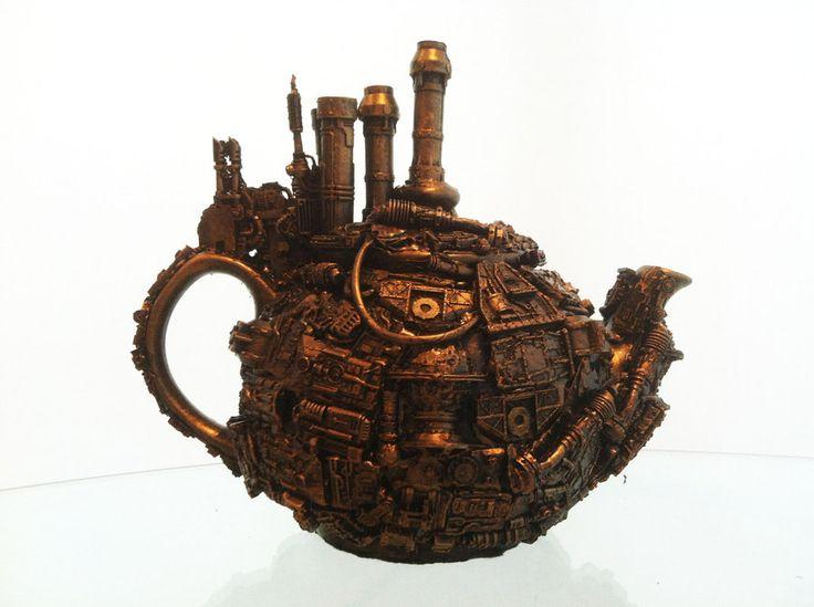 steampunk tea pot by richardsymonsart on deviantART