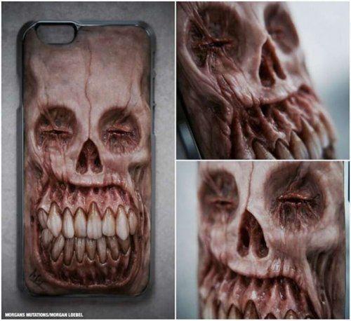 Реалистичные чехлы на смартфоны для любителей ужастиков (20 фото)