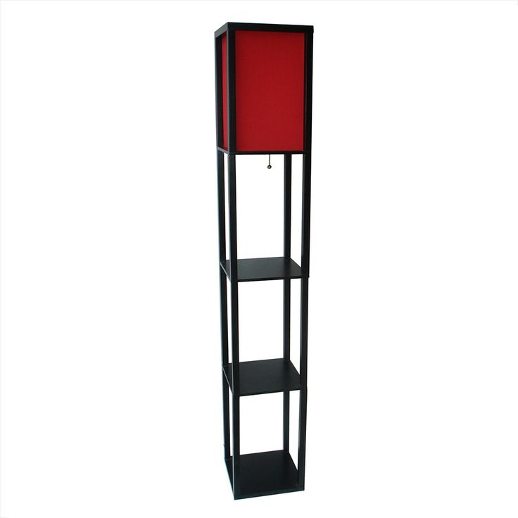 Threshold Floor Shelf Lamp With Red Shade Ebo Target Decorate All The Rooms