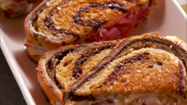 Get Hot Pressed Reuben Recipe from Food Network