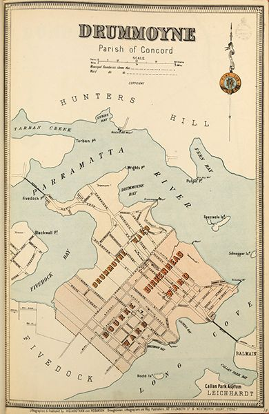 Drummoyne borough map. Available to purchase as an archival print. Contact the Library Shop for details. Print number C006720016