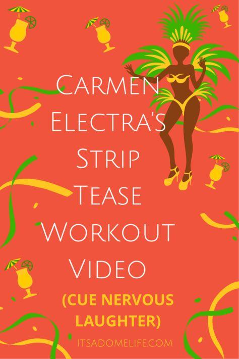 carmen electra strip tease work out