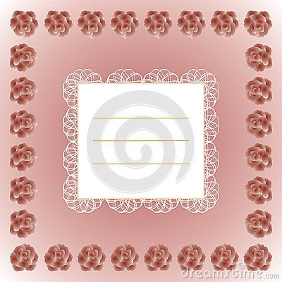 Decorative #text #frame with #lace and #roses