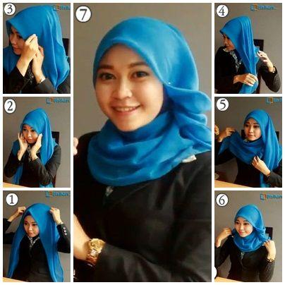 Tutorial Hijab By Mayra Hijab: 4 Macam Tutorial Hijab Terbaru Segi Empat Untuk Pe...