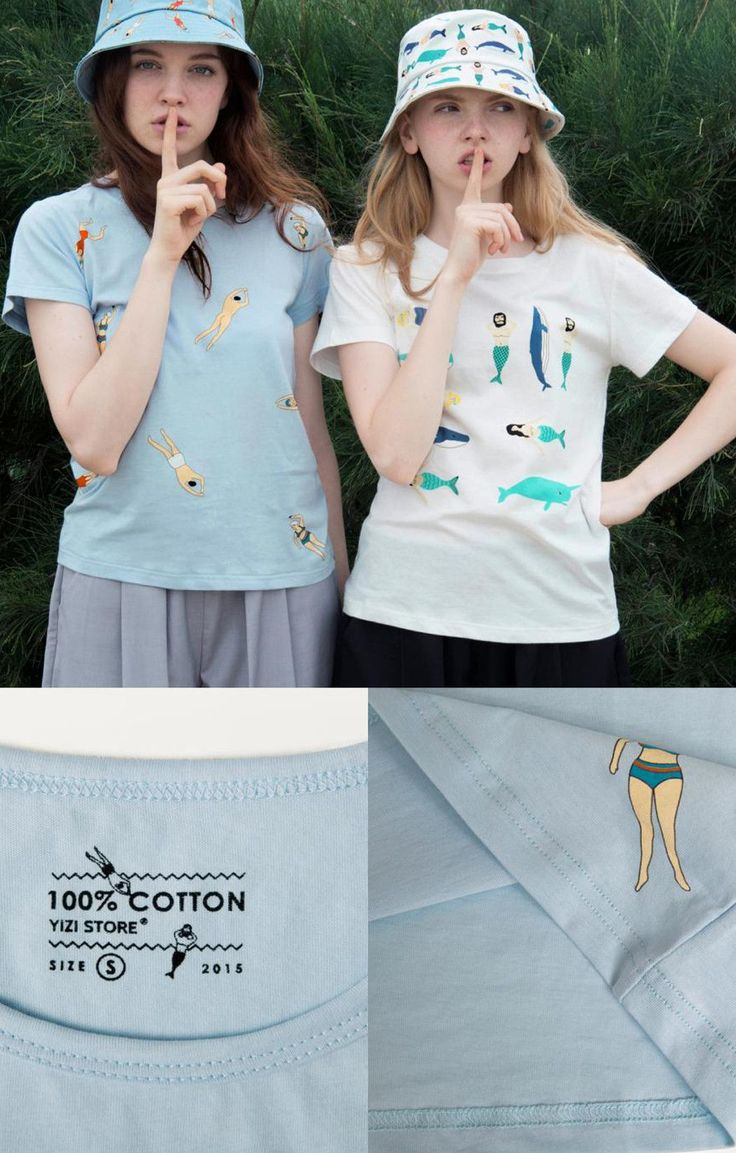 The swim tee from Yizi comes with a crew neck collar and a casual fit. The swim tee features a fun graphic with a sea blue colored tee. This is the go-to graphic which pairs perfectly with bold patter