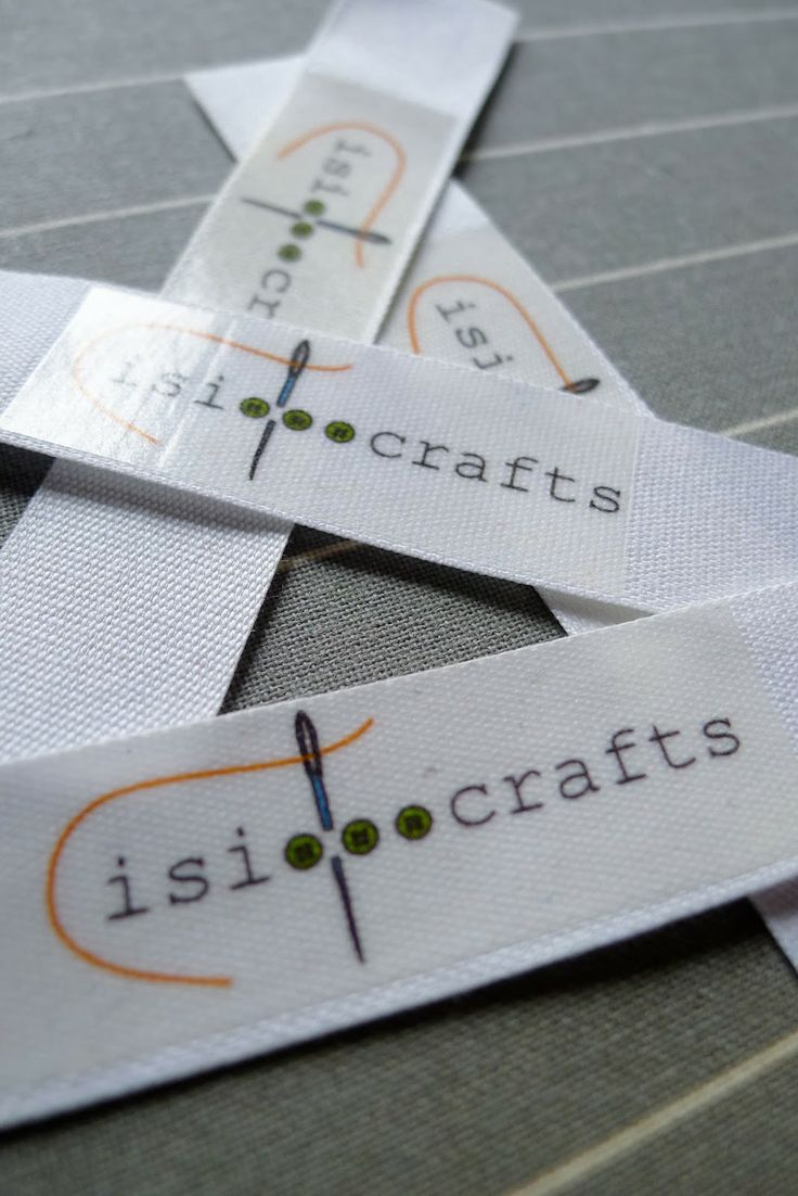 TUTORIAL: Homemade clothing labels