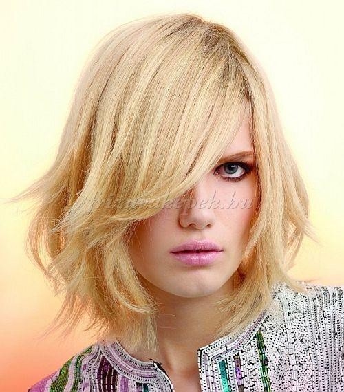 félhosszú+frizurák+egyenes+hajból+-+rétegesen+vágott+félhosszú+frizura