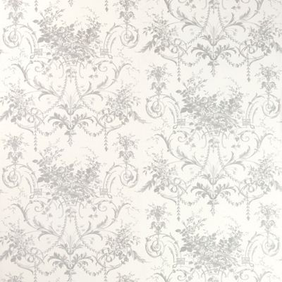 Laura Ashley - Tuileries - Silver - Wallpaper