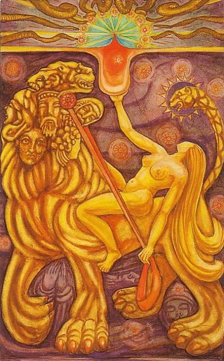 VIII. Strength: (Aleister) Crowley (Thoth) Tarot