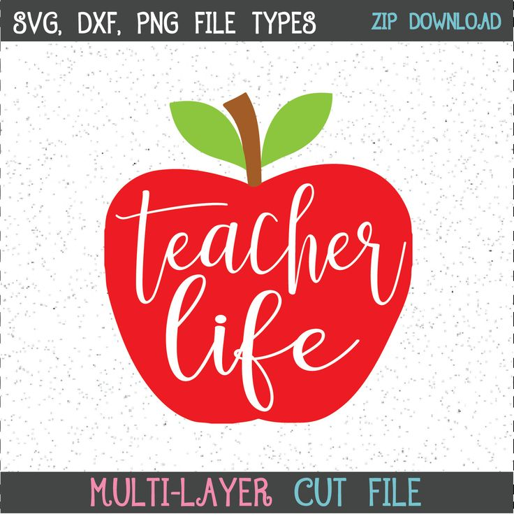 Download Teacher Life SVG cuttable file for Cricut and Silhouette ...