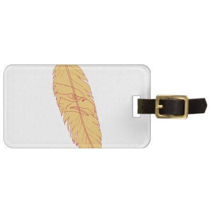 #Sea Eagle Head Inside Feather Drawing Luggage Tag - #luggage #tags