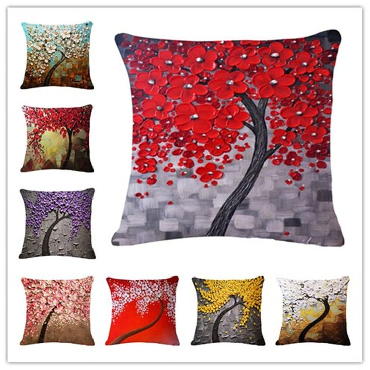 2015 Fashion New Cushion Tree  Print pillow Bed Sofa Home Decorative Pillow Fundas Para Almofadas Cojines #clothing,#shoes,#jewelry,#women,#men,#hats,#watches,#belts,#fashion,#style