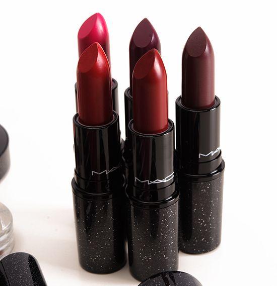 MAC Heirloom Mix Lipsticks, (Salon Rouge, No Faux Pas, Rebel)
